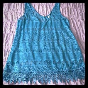 Knitted Turquoise Swimsuit cover up